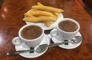 Chocolate con churros para dos